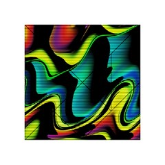 Hot Abstraction With Lines 4 Acrylic Tangram Puzzle (4  X 4 ) by MoreColorsinLife