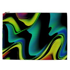 Hot Abstraction With Lines 4 Cosmetic Bag (xxl)  by MoreColorsinLife