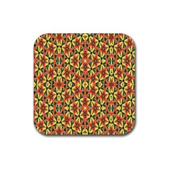 Pattern 25 Rubber Coaster (square)  by ArtworkByPatrick