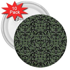 Camouflage Ornate Pattern 3  Buttons (10 Pack)