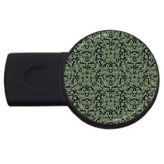 Camouflage Ornate Pattern Usb Flash Drive Round (2 Gb) by dflcprints