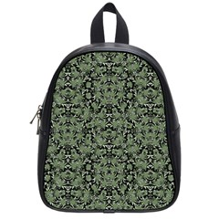 Camouflage Ornate Pattern School Bag (small) by dflcprints