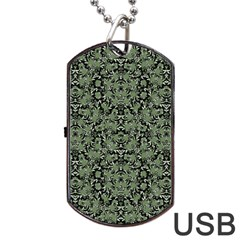 Camouflage Ornate Pattern Dog Tag Usb Flash (one Side) by dflcprints