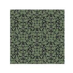 Camouflage Ornate Pattern Small Satin Scarf (square) by dflcprints