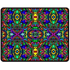 Artwork By Patrick Pattern 31 Double Sided Fleece Blanket (medium)