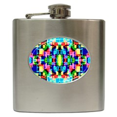 Artwork By Patrick  Colorful 1 Hip Flask (6 Oz)