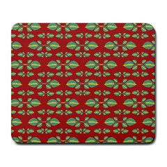 Tropical Stylized Floral Pattern Large Mousepads by dflcprints