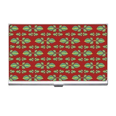 Tropical Stylized Floral Pattern Business Card Holders by dflcprints