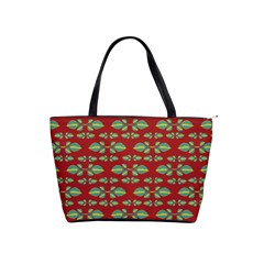 Tropical Stylized Floral Pattern Shoulder Handbags by dflcprints