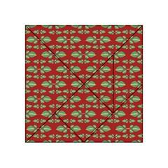 Tropical Stylized Floral Pattern Acrylic Tangram Puzzle (4  X 4 ) by dflcprints