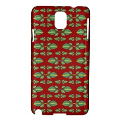 Tropical Stylized Floral Pattern Samsung Galaxy Note 3 N9005 Hardshell Case by dflcprints