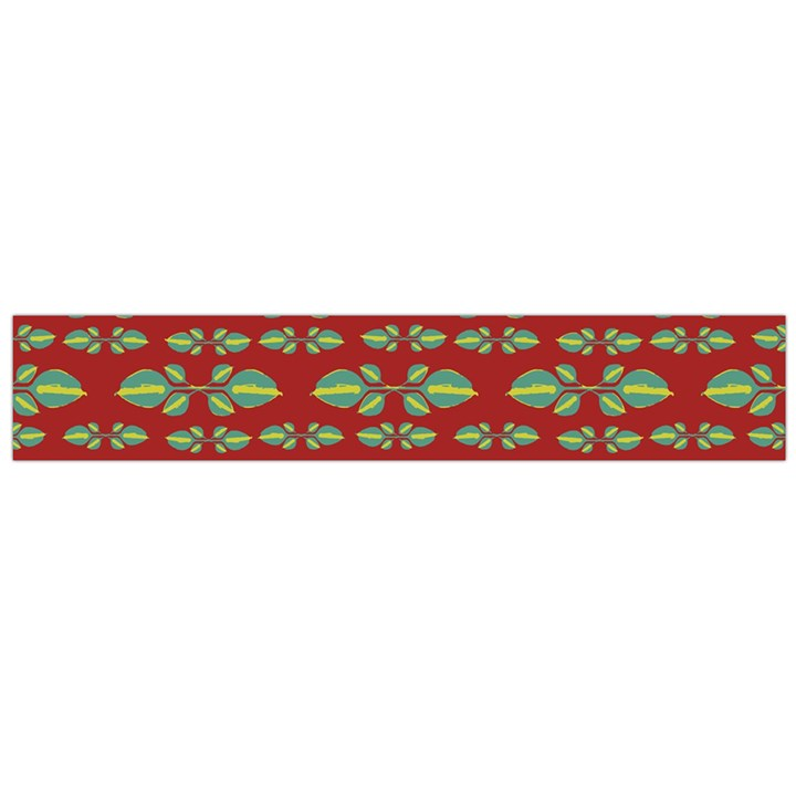 Tropical Stylized Floral Pattern Large Flano Scarf