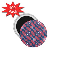 Squares And Circles Motif Geometric Pattern 1 75  Magnets (100 Pack)  by dflcprints