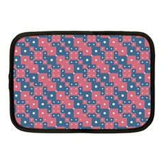 Squares And Circles Motif Geometric Pattern Netbook Case (medium)  by dflcprints