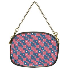 Squares And Circles Motif Geometric Pattern Chain Purses (one Side)  by dflcprints