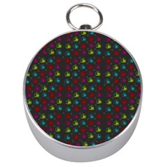 Roses Raining For Love  In Pop Art Silver Compasses by pepitasart