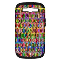 Peace Sign Samsung Galaxy S Iii Hardshell Case (pc+silicone)