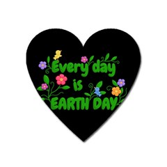Earth Day Heart Magnet by Valentinaart