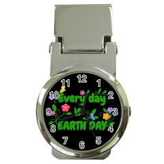 Earth Day Money Clip Watches by Valentinaart