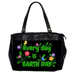 Earth Day Office Handbags (2 Sides)  by Valentinaart