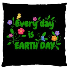 Earth Day Large Cushion Case (one Side) by Valentinaart