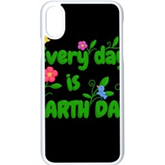 Earth Day Apple Iphone X Seamless Case (white) by Valentinaart