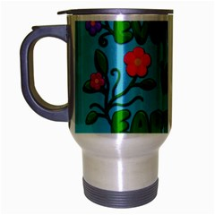 Earth Day Travel Mug (silver Gray) by Valentinaart