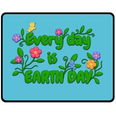 Earth Day Fleece Blanket (medium)  by Valentinaart