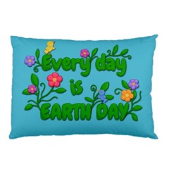 Earth Day Pillow Case (two Sides) by Valentinaart