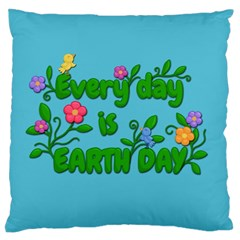 Earth Day Large Flano Cushion Case (one Side) by Valentinaart