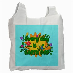 Earth Day Recycle Bag (one Side) by Valentinaart