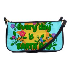 Earth Day Shoulder Clutch Bags by Valentinaart
