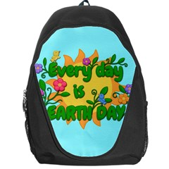 Earth Day Backpack Bag by Valentinaart