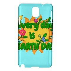 Earth Day Samsung Galaxy Note 3 N9005 Hardshell Case by Valentinaart