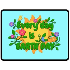 Earth Day Double Sided Fleece Blanket (large)  by Valentinaart