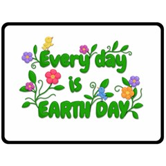 Earth Day Fleece Blanket (large)  by Valentinaart