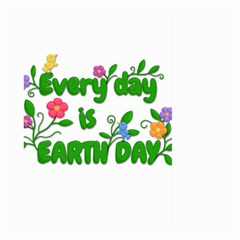 Earth Day Large Garden Flag (two Sides) by Valentinaart