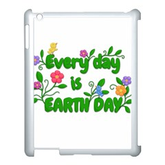 Earth Day Apple Ipad 3/4 Case (white) by Valentinaart