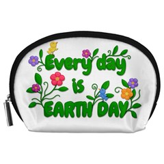 Earth Day Accessory Pouches (large)  by Valentinaart