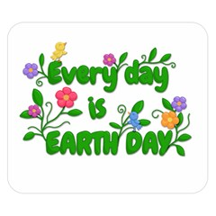 Earth Day Double Sided Flano Blanket (small)  by Valentinaart