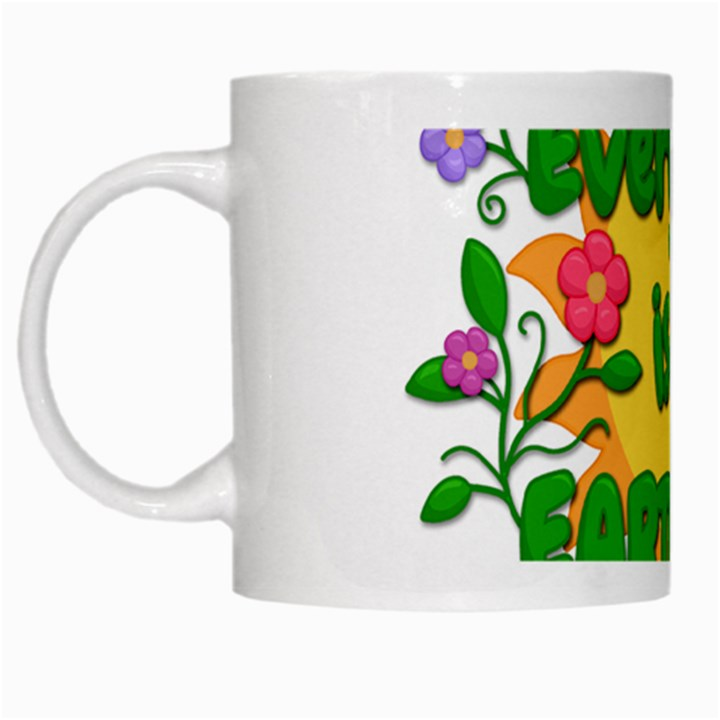 Earth Day White Mugs