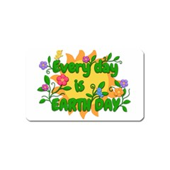 Earth Day Magnet (name Card) by Valentinaart