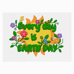 Earth Day Large Glasses Cloth by Valentinaart