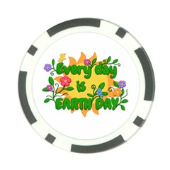Earth Day Poker Chip Card Guard by Valentinaart