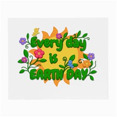 Earth Day Small Glasses Cloth (2 Side) by Valentinaart