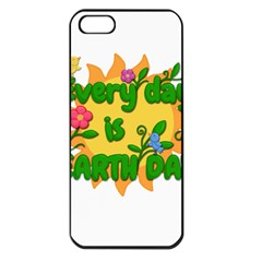 Earth Day Apple Iphone 5 Seamless Case (black) by Valentinaart