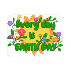 Earth Day Double Sided Flano Blanket (mini)  by Valentinaart