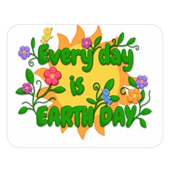 Earth Day Double Sided Flano Blanket (large)  by Valentinaart