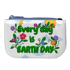 Earth Day Large Coin Purse by Valentinaart