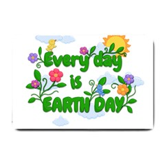 Earth Day Small Doormat  by Valentinaart